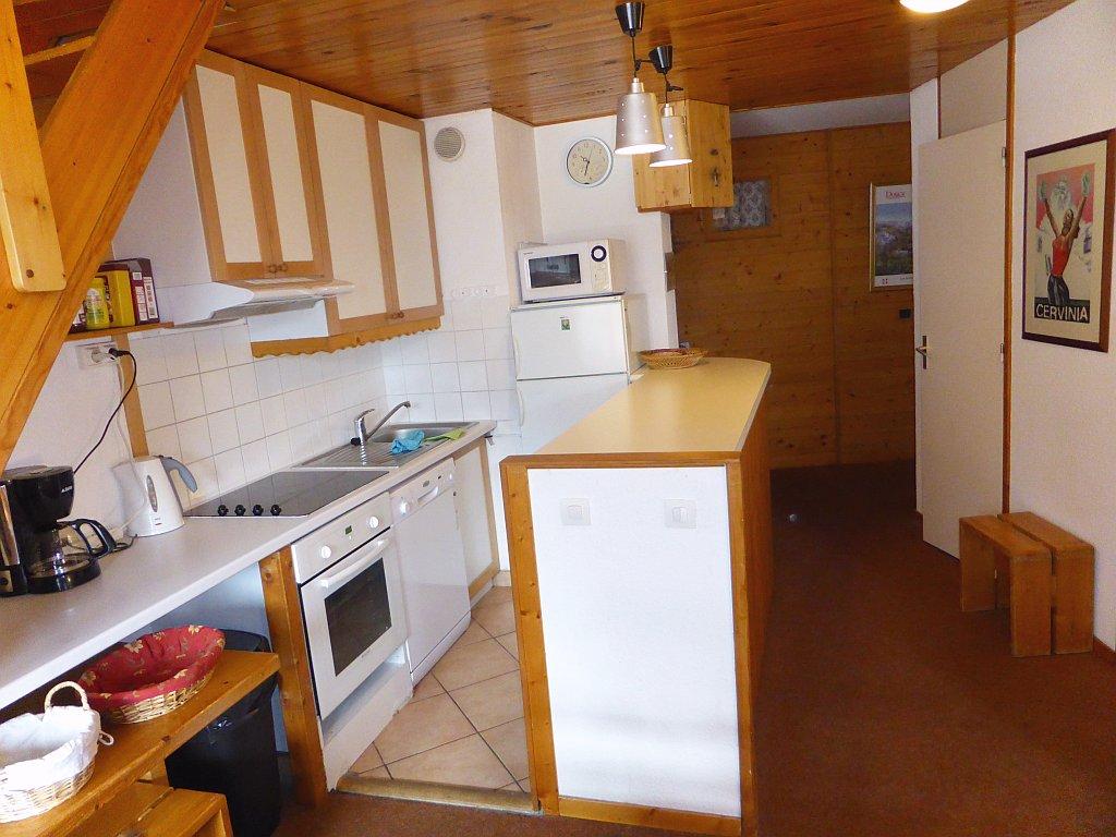Foto van de keuken van appartement Clairière 35