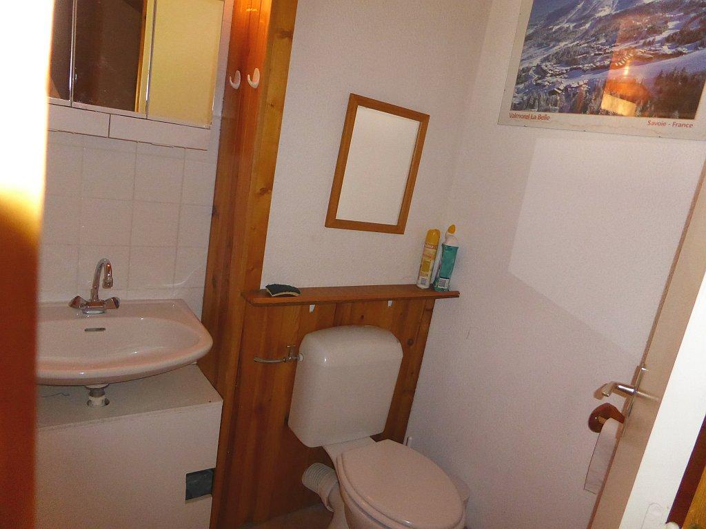Foto van het toilet van appartement Clairière 35