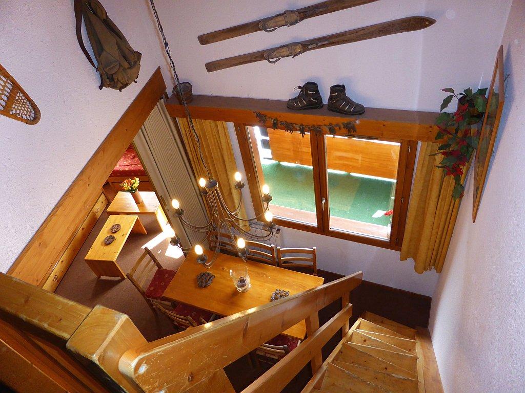 Foto van de trap van appartement Clairière 35