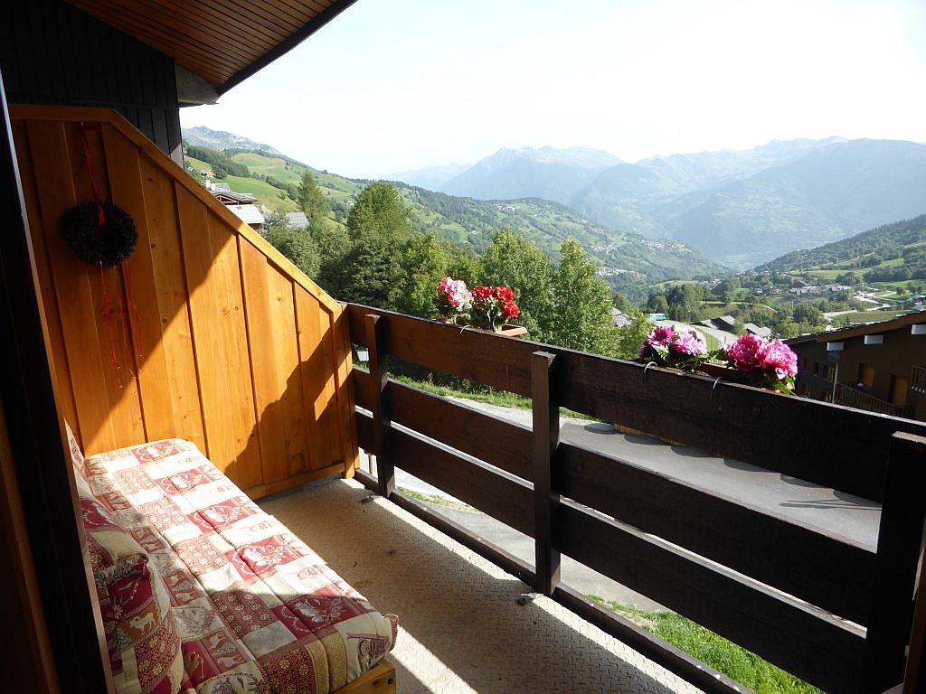 Foto van het balkon van appartement Clairière 27