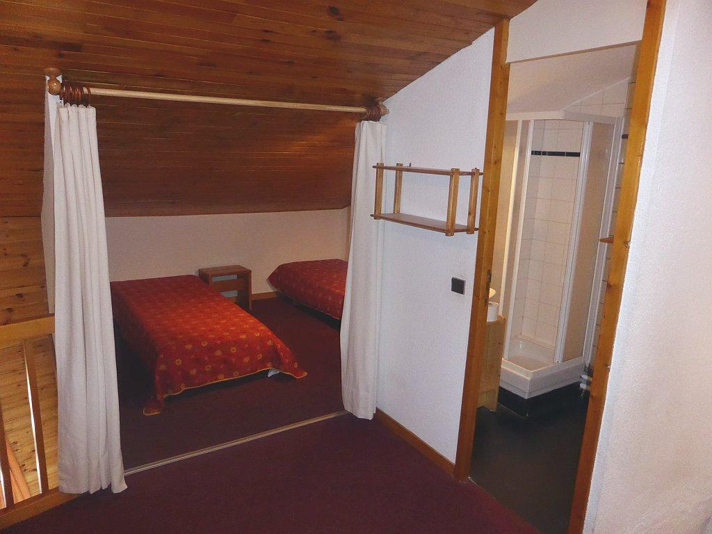 Foto van de slaapkamer boven van appartement Clarrière 27
