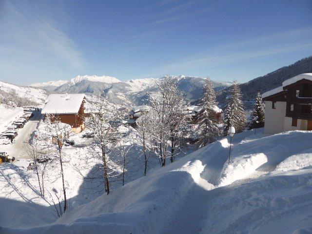 Uitzicht op Valmorel vanuit appartement Souche 9